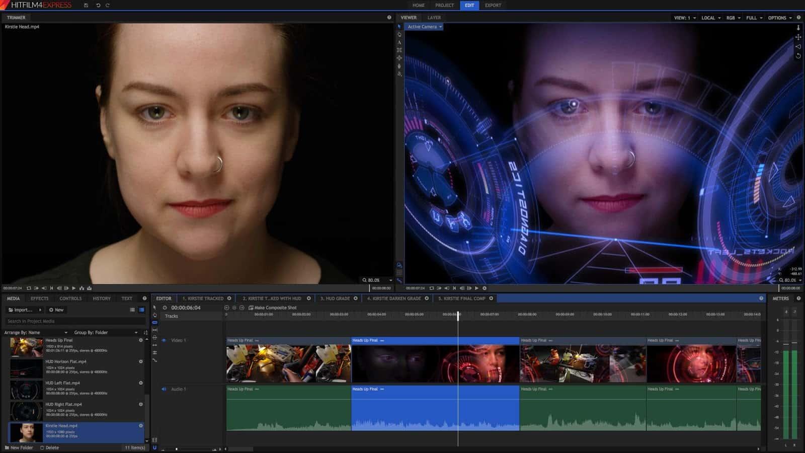 Phần mềm HitFilm Express