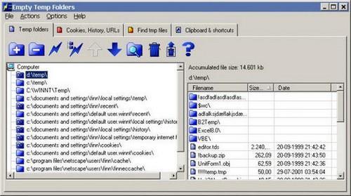 Phần mềm dọn rác Empty Temp Folder
