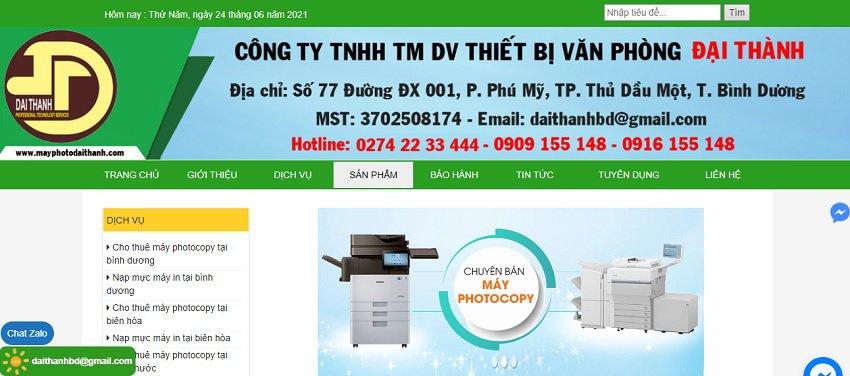 Công Ty TNHH TMDV Thiết Bị Văn Phòng Đại Thành