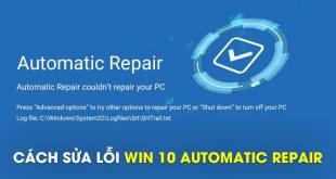 khắc phục lỗi máy tính bị repair trên win 10