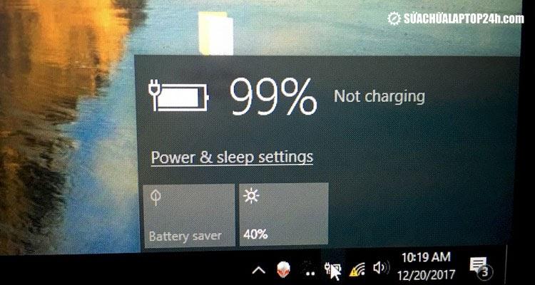 sửa lỗi laptop chỉ sạc được 99% pin