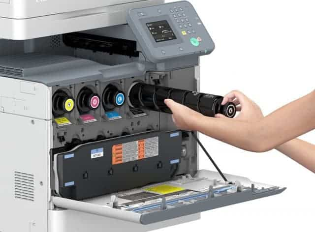 thay hộp mực máy in